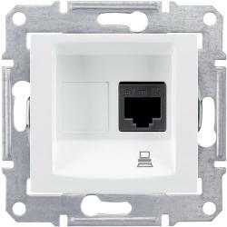 Розетка компьютерная RJ45 Sedna кат. 5e неэкранированная UTP (белый) SDN4300121