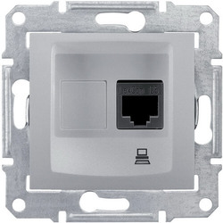 Розетка компьютерная RJ45 Sedna кат. 5e неэкранированная UTP (алюминий) SDN4300160