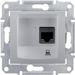 Розетка компьютерная RJ45 Sedna кат. 6 неэкранированная UTP (алюминий) SDN4700160