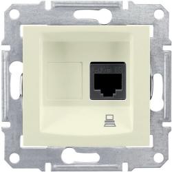 Розетка компьютерная RJ45 Sedna кат. 5e неэкранированная UTP (бежевый) SDN4300147