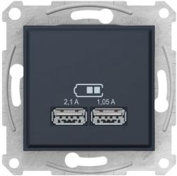 Розетка USB Sedna (графит) SDN2710270