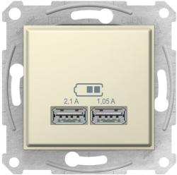 Розетка USB Sedna (бежевый) SDN2710247