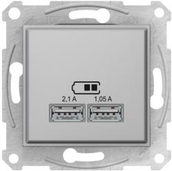 Розетка USB Sedna (алюминий) SDN2710260