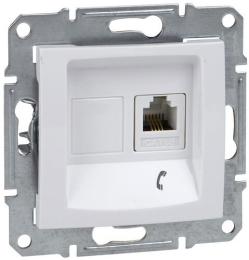 Телефонная розетка Sedna (белый) SDN4101121