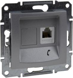 Телефонная розетка Sedna (алюминий) SDN4101160