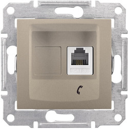 Телефонная розетка Sedna (титан) SDN4101168