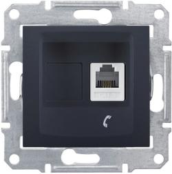 Телефонная розетка Sedna (графит) SDN4101170