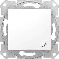 Кнопочный выключатель Sedna с символом «звонок» (белый) SDN0800121