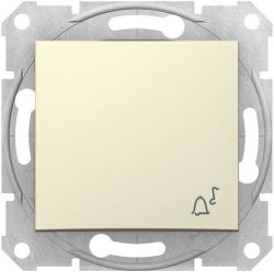 Кнопочный выключатель Sedna с символом «звонок» (бежевый) SDN0800147