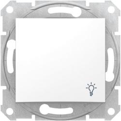 Кнопочный выключатель Sedna с символом «свет» (белый) SDN0900121