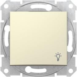 Кнопочный выключатель Sedna с символом «свет» (бежевый) SDN0900147