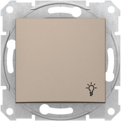 Кнопочный выключатель Sedna с символом «свет» (титан) SDN0900168