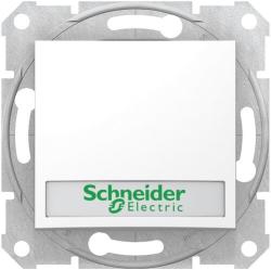 Кнопочный выключатель Sedna с полем для надписи и подсветкой (белый) SDN1600321