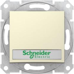 Кнопочный выключатель Sedna с полем для надписи и подсветкой (бежевый) SDN1600347