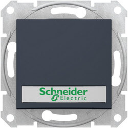 Кнопочный выключатель Sedna с полем для надписи и подсветкой (графит) SDN1600370