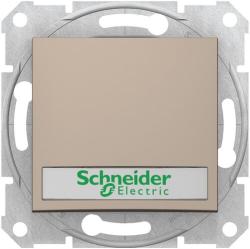 Кнопочный выключатель Sedna с полем для надписи и подсветкой (титан) SDN1600368