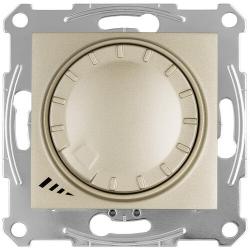 Светорегулятор LED проходной нажимной 4-400 Вт Sedna (титан) SDN2201268