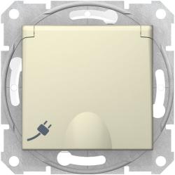 Розетка влагозащищенная Sedna (бежевый) SDN3100347