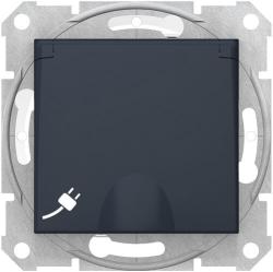 Розетка влагозащищенная Sedna (графит) SDN3100370