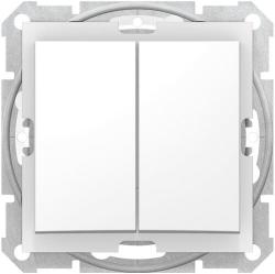 Выключатель двухклавишный IP44 Sedna (белый) SDN0300421