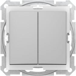 Выключатель двухклавишный IP44 Sedna (алюминий) SDN0300460