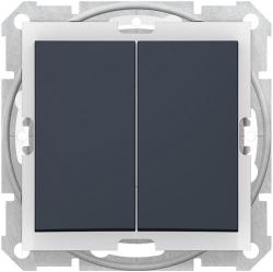 Выключатель двухклавишный IP44 Sedna (графит) SDN0300470