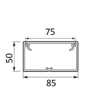 Кабель-канал 85x50 мм Metra  638080