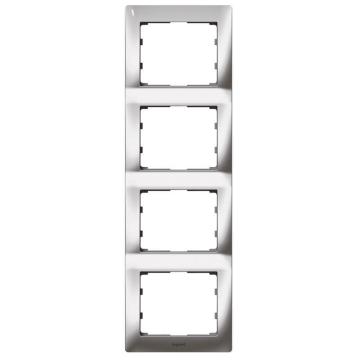 Рамка Galea life четырехместная вертикальная (хром)