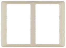 Рамка двухместная для двойных розеток Valena Life (слоновая кость) 754232