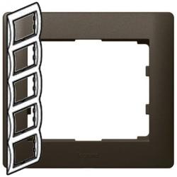 Рамка Galea life пятиместная вертикальная (темная бронза)