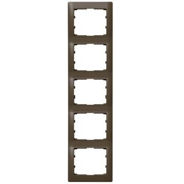 Артикул: 771209, Рамка Galea life пятиместная вертикальная (темная бронза)