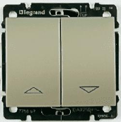 Кнопка-выключатель Galea Life для рольставней (титан) 775814+771414