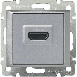 Розетка HDMI Valena (алюминий) 770285