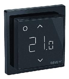 Терморегулятор DEVIreg Smart интеллектуальный с WI-FI, 16A (черный) 140F1143