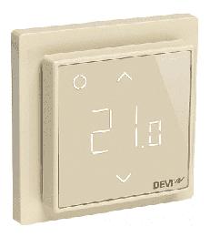 Терморегулятор DEVIreg Smart интеллектуальный с WI-FI, 16A (бежевый) 140F1142