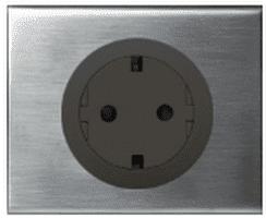 Рамка Сeliane одноместная (фактурная сталь) 069101
