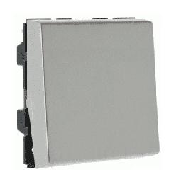 Механизм кнопочного выключателя Legrand Mosaic 2 модуля (алюминий) 079240