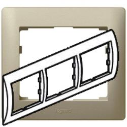 Рамка Galea life трехместная горизонтальная (титан) 771403