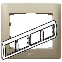 Рамка Galea life четырехместная горизонтальная (титан) 771404