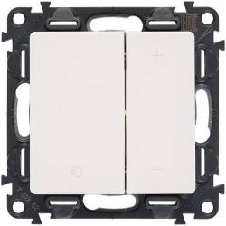 Светорегулятор 400 Вт Valena Life (белый) 752062+754890