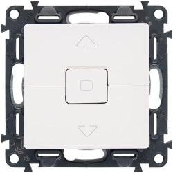 Кнопка-выключатель для рольставней Valena Life (белый) 752030+755140