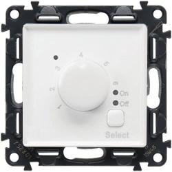 Терморегулятор для теплого пола Valena Life с лицевой панелью (белый) 752134