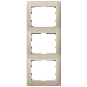 Рамка Galea life трехместная вертикальная (титан)  771407