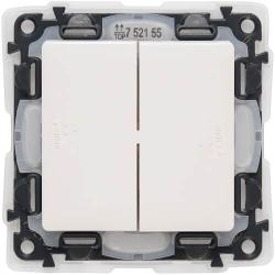 Выключатель двухклавишный влагозащищенный Valena Life (белый) 752155