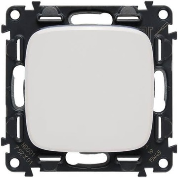 Выключатель Valena Allure (белый) 752001+755005