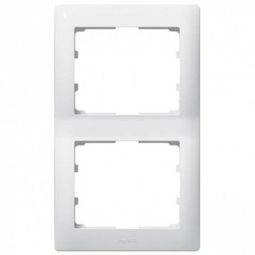 Рамка Galea life двухместная вертикальная (белая) 771006