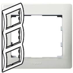 Рамка Galea life трехместная вертикальная (белая) 771007
