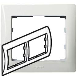 Рамка Galea life двухместная горизонтальная (белая)