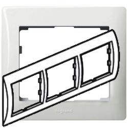 Рамка Galea life трехместная горизонтальная (белая)