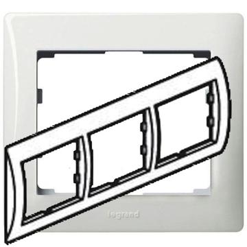 Рамка Galea life трехместная горизонтальная (белая) 771003